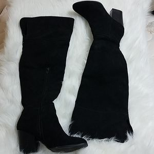 Express Vegan Suede Over the Knee Boots